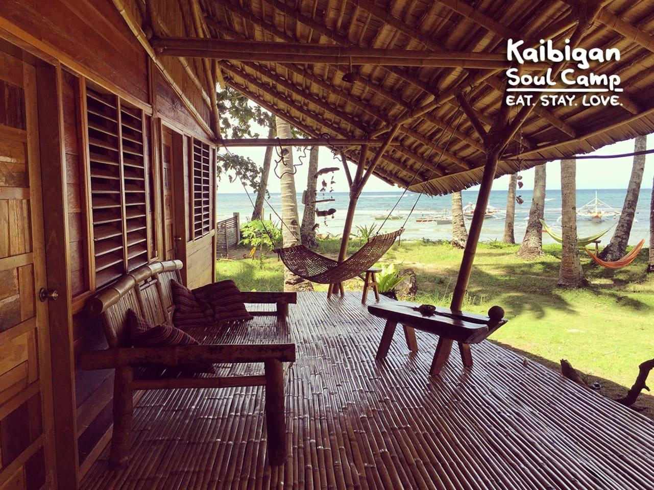 Kaibigan Soul Camp Palawan • longhouse • WHALE SHARK BEACHSIDE • terrace