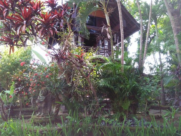Balinese Antique small Barn House - UBUD