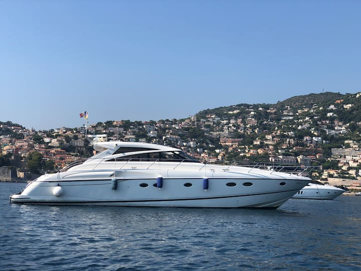 Princess yacht and a gorgeous panorama of the sea