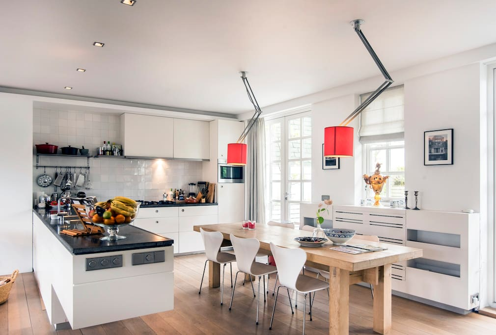 Open kitchen with all equipments