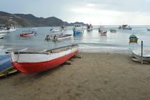 Botes anclados en la Bahía de Taganga