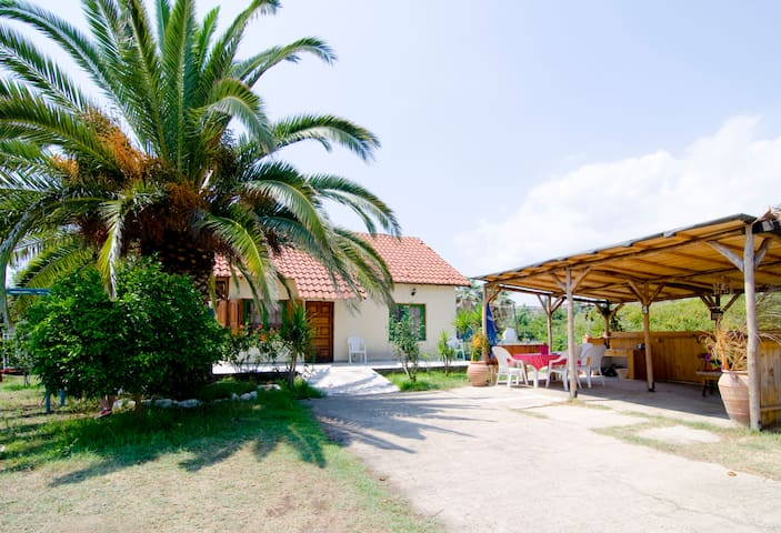 vila for 10 with garden near beach - Toroni - Huis
