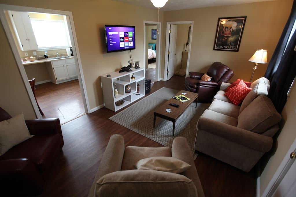 Nice living room area.
