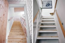 Staircase to other level. Easily child proofed