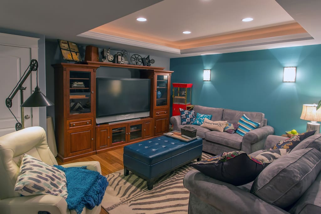Cool, relaxing space by day, sumptuous Pottery Barn bed by night, and a large TV for your downtime.