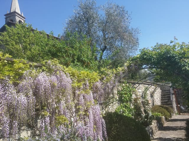 Relax in the lovely landscaped gardens from April to October.