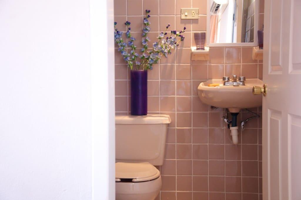 Un baño limpio. Clean Bathroom.