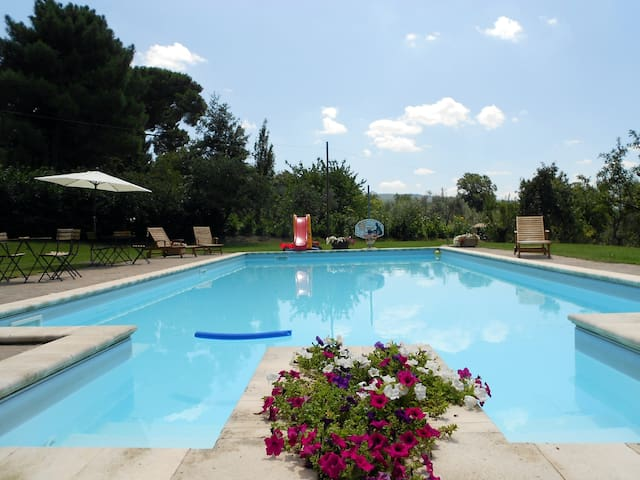 Country House of 1700 with pool - Viterbo