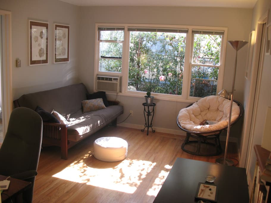 Photo of an older room arrangement which shows light pattern during the day.