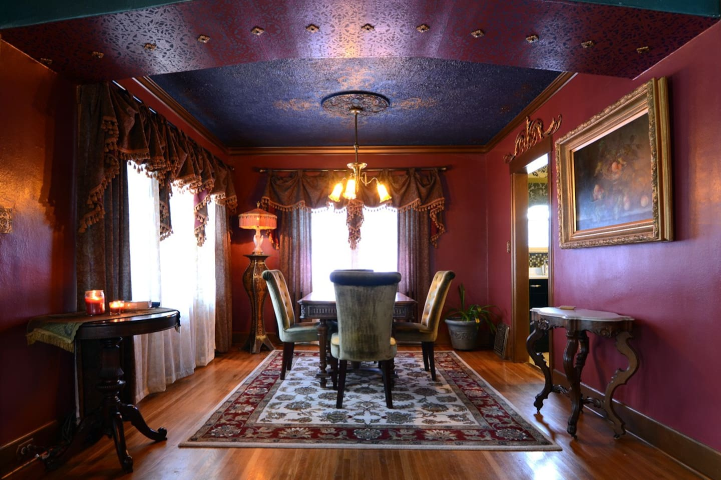 Spanish/Baroque Style home replete with antiques and paintings fit for a museum!