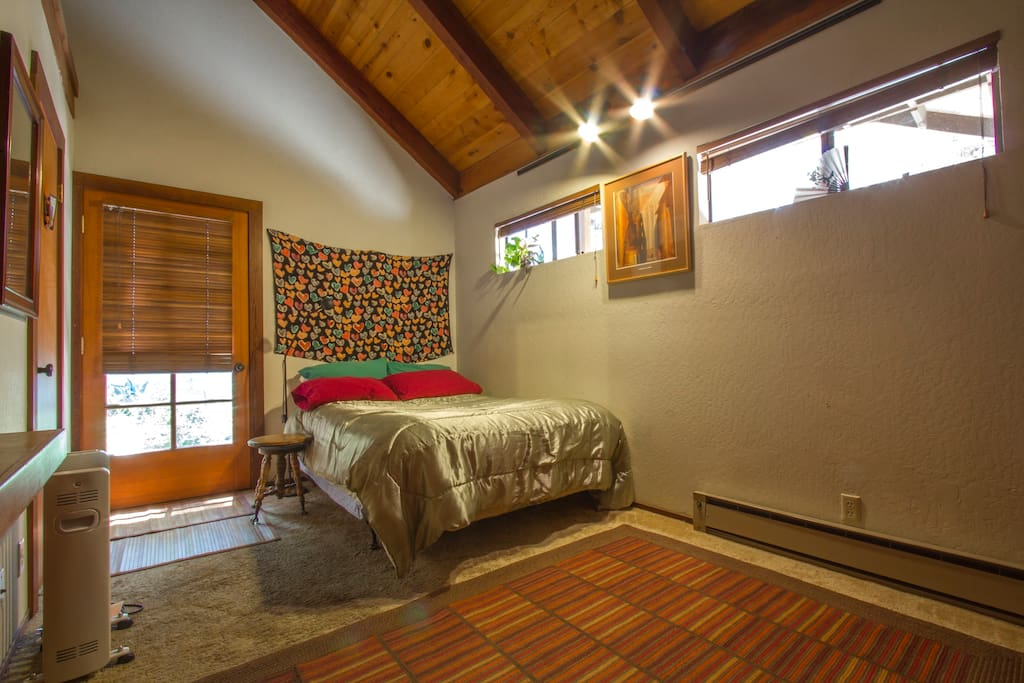 Room A has private entrance and 1/2 bath. Book it on this listing.