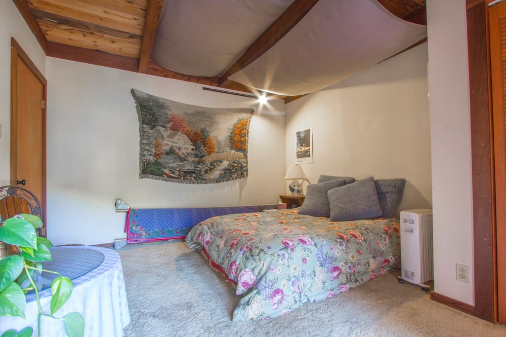"""HAcross the hall, Room B, has private deck. Book it on """" Private Room, Santa Cruz Mountains"""""""