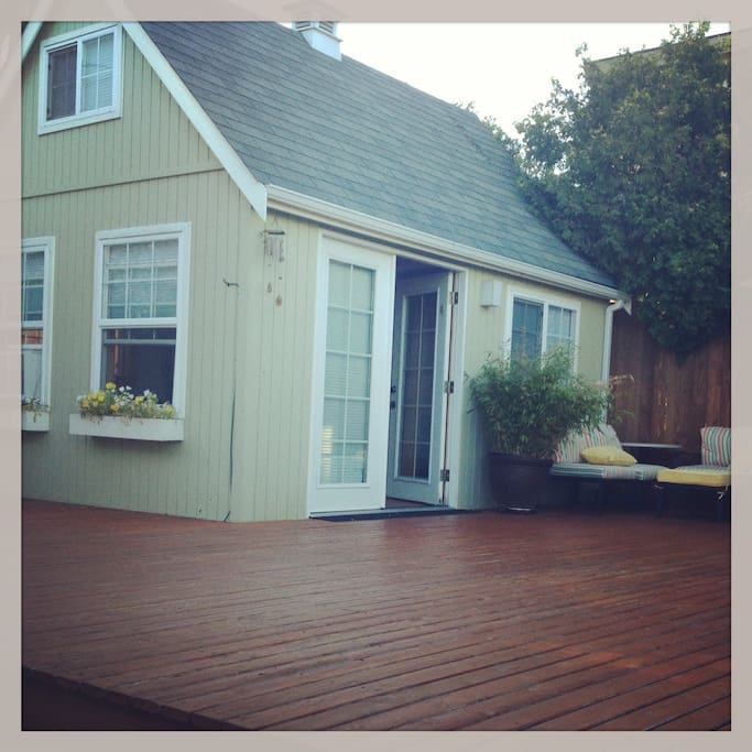Private deck and entrance of your mini home!