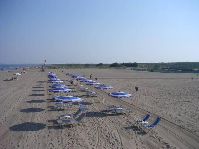 Italien nah zu Venedig - zelten in Meer nähe II