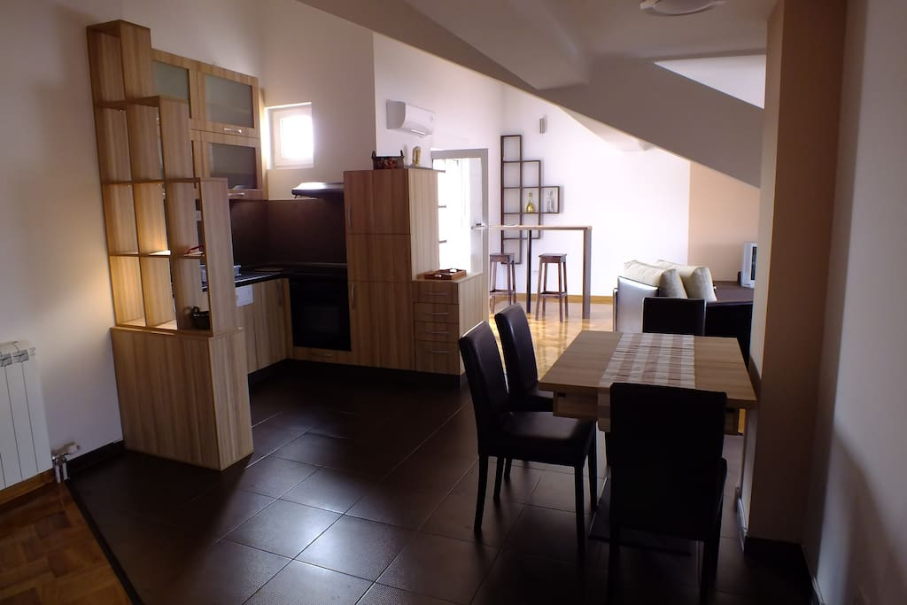 Comfy kitchen and dinning area