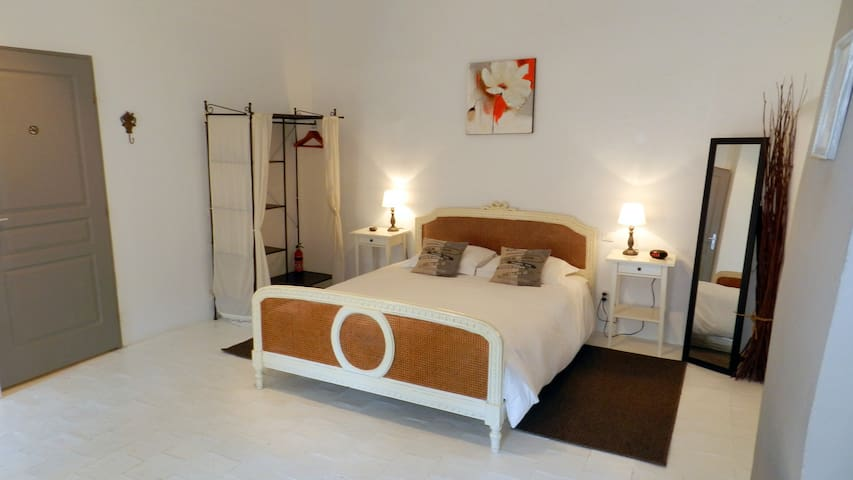 Large bright room, private bathroom high ceiling - Lézignan-Corbières - Bed & Breakfast