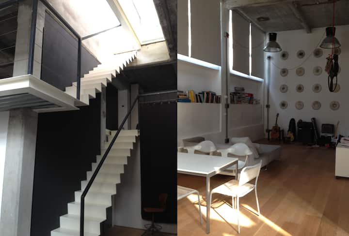 Loft 130 sqm, 2 floors + terrace