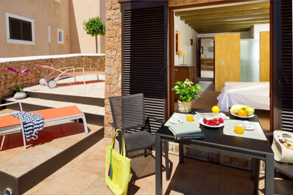 Private terrace of the Suite 1