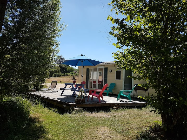 Loue Mobil Home en bord d'étang