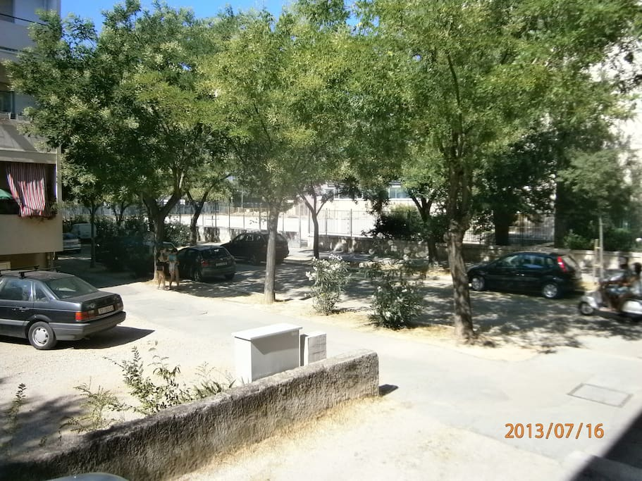 parking and playground