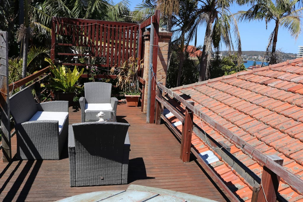 Private Rooftop Balcony Lounge Area