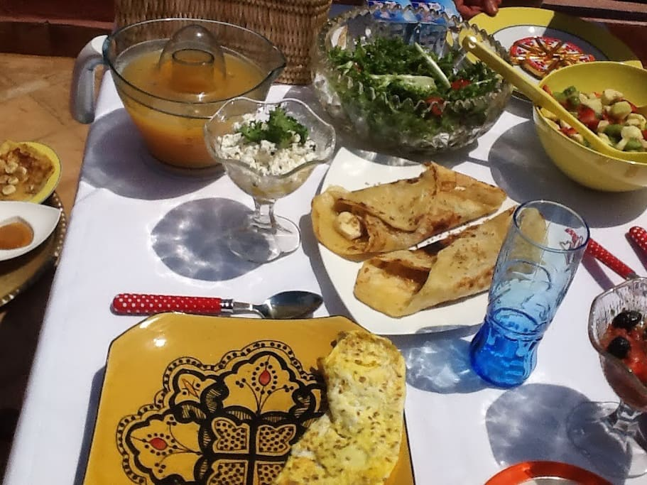 Breakfast is served everyday at Dar Houria