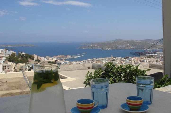 Spectacular Ano Syros for 2 people - Ano Syros - Daire