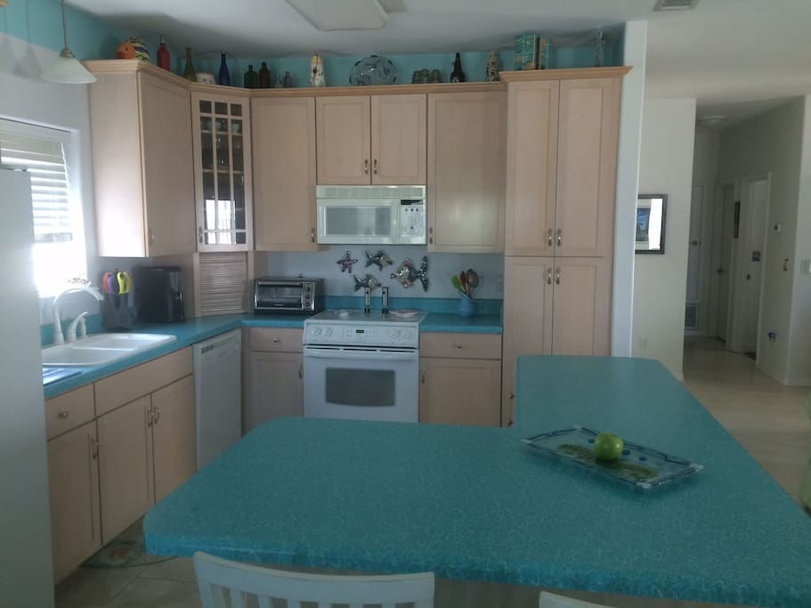Large kitchen with lots of counter space for your family gatherings.