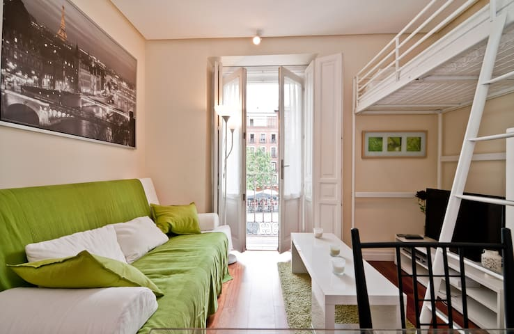 Madrid central Cool flat, 4 pax, 1 BR, 40 m2