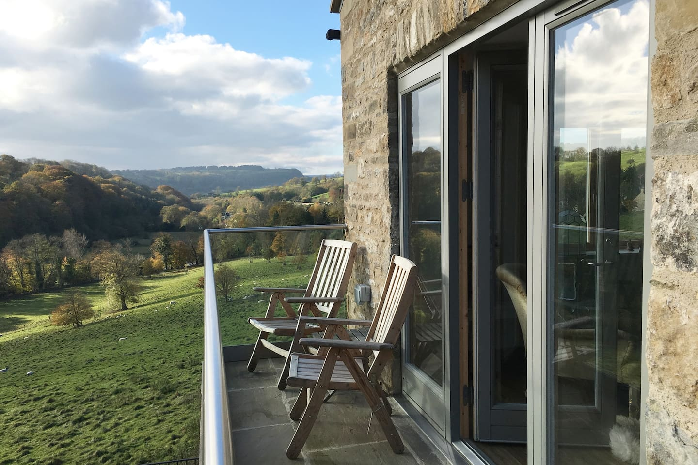 If its nice weather you can throw the doors open and enjoy the view. The Yorkshire Dales are on the doorstep