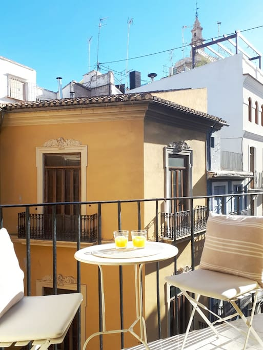 One of 2 sunny balconies to sit and enjoy the sun and refreshments.