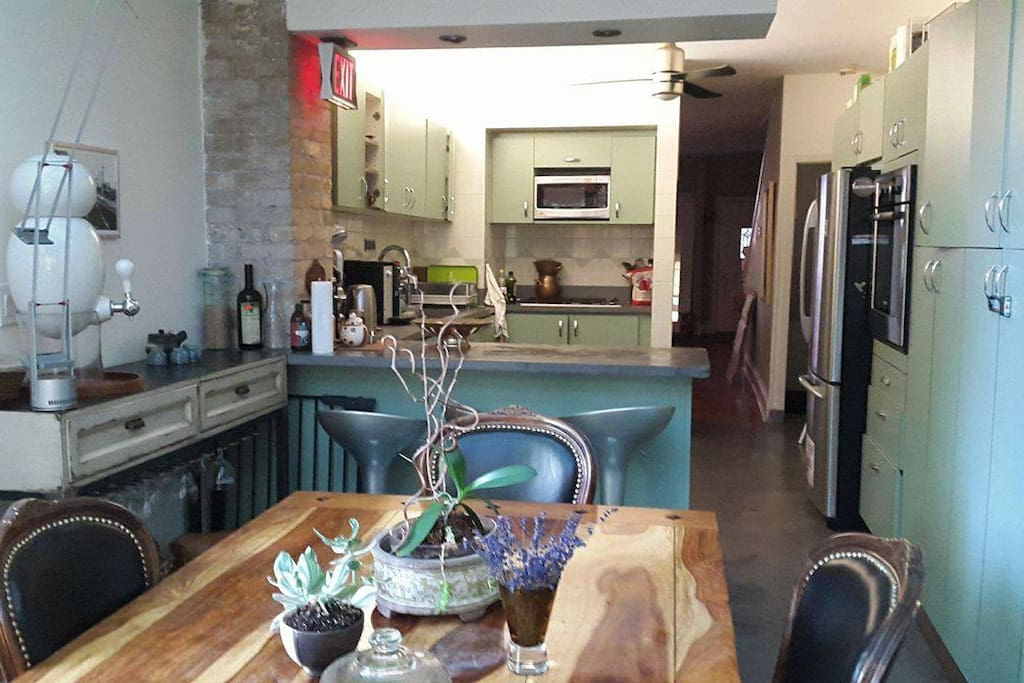 dining room/sunroom/kitchen