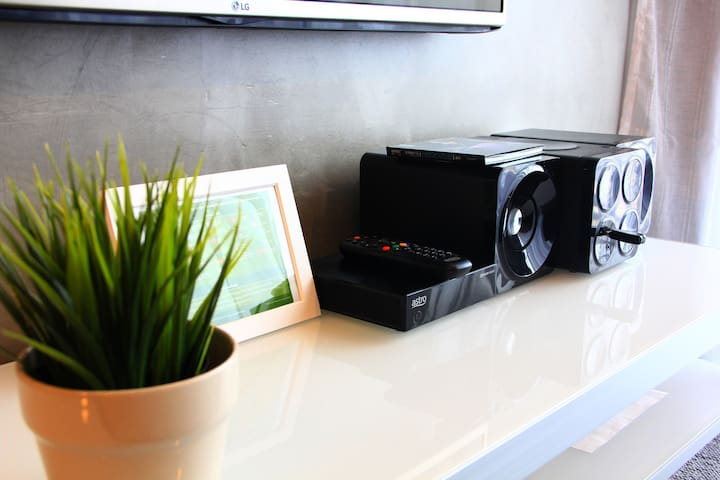 Mini Sound System with iphone Dock & Astro Njoi