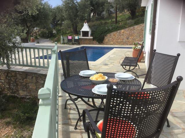 Villa Aquilo, superb villa,  Megali Amos area
