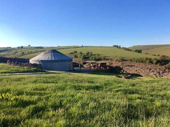 Peak District Sunrise Yurt with Breakfast hamper