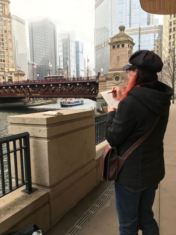 Sketching Chicago in the Fall