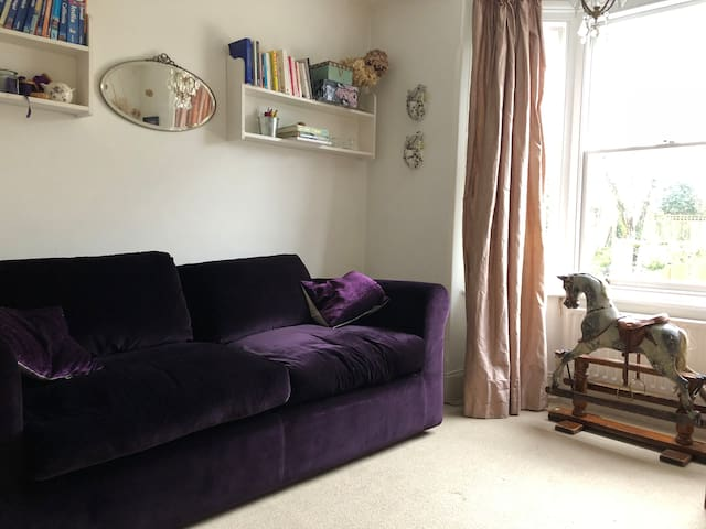 Bedroom 2 - plush sofa bed - folded in for a cosy den