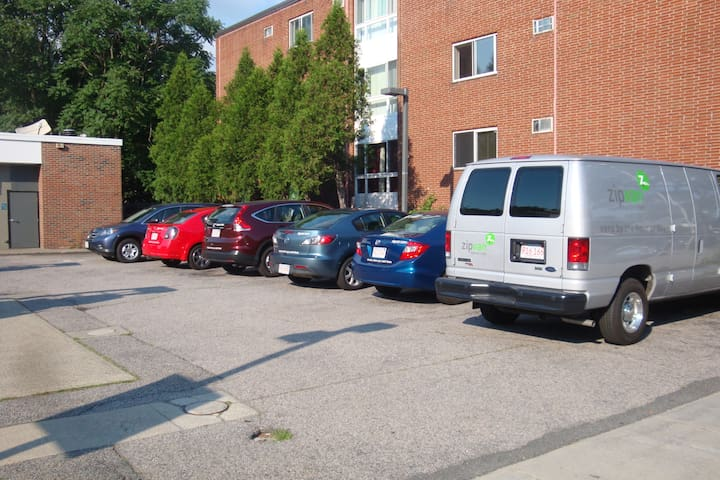 need a rental vehicle?! Zipcar is behind my house (literally a 1 min walk)