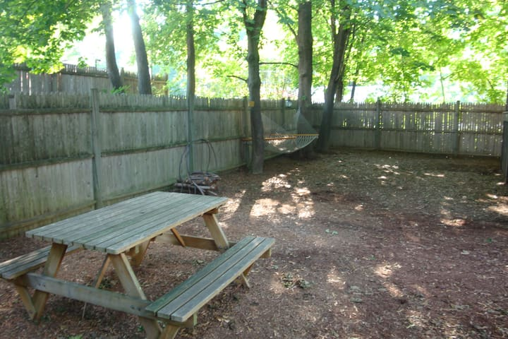 use the spacious back yard, it's up to you! (summer time pic)