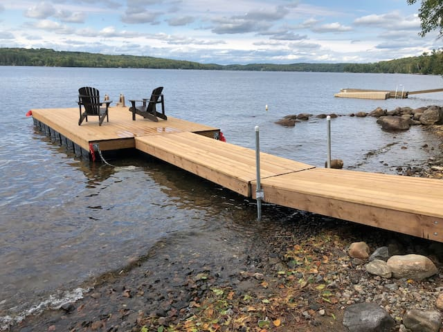Relax on our private new dock