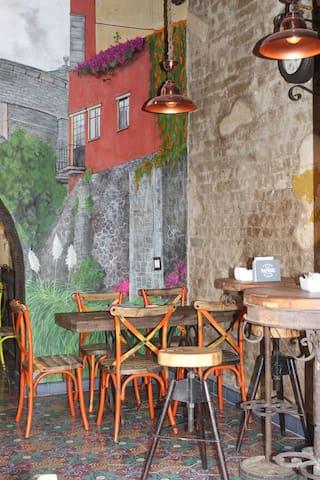 un cafe vintage
