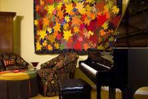 Play our Kawai grand piano.