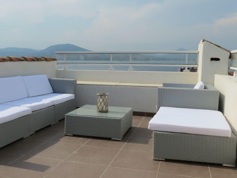 Terrasse haute lounge