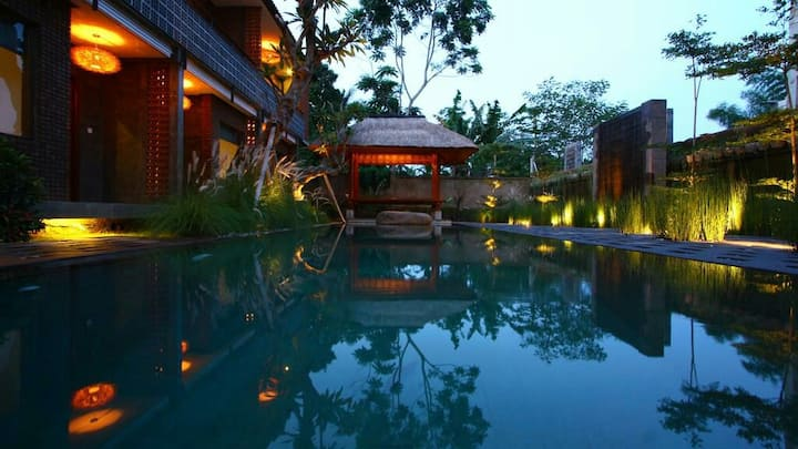 2 Deluxe Rooms-Paddies View-Ubud Center
