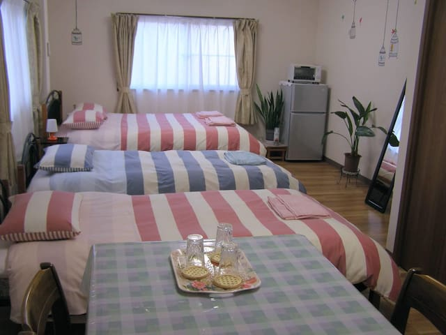 10min from JR Kofu Sta./ WiFi, Parking available - 甲府市 - Huis