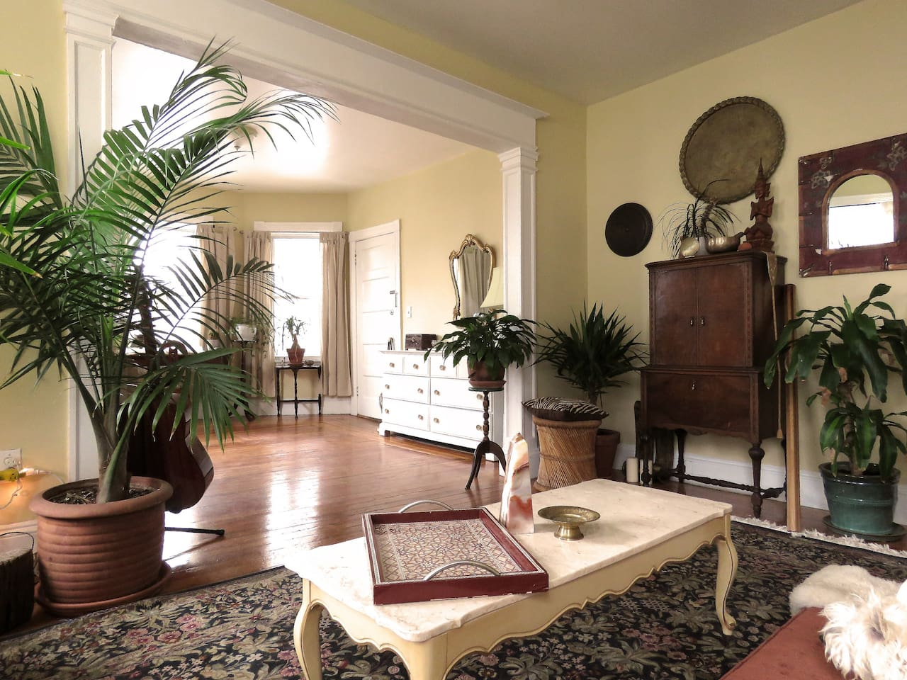 Double parlor living room