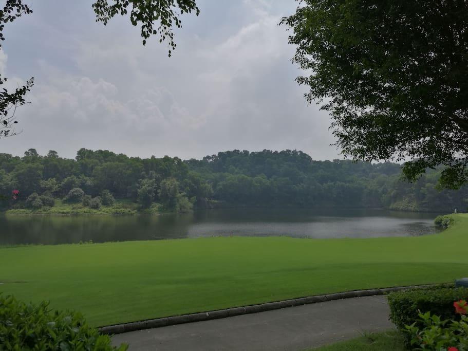 小区里的高尔夫景观