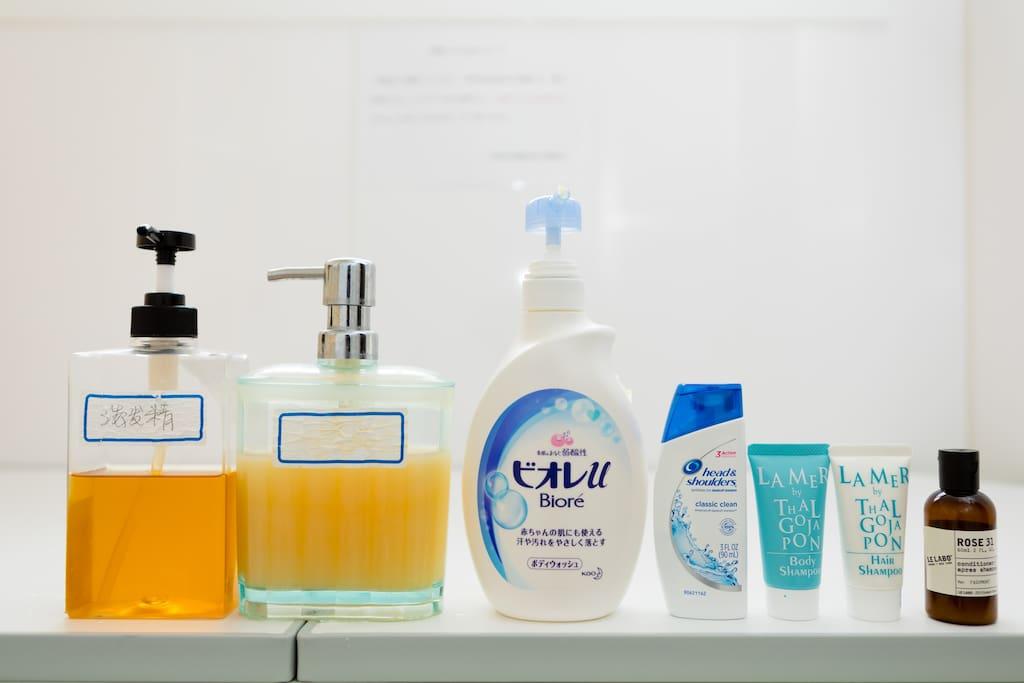 Shampoo, Conditioner, Body Shampoo