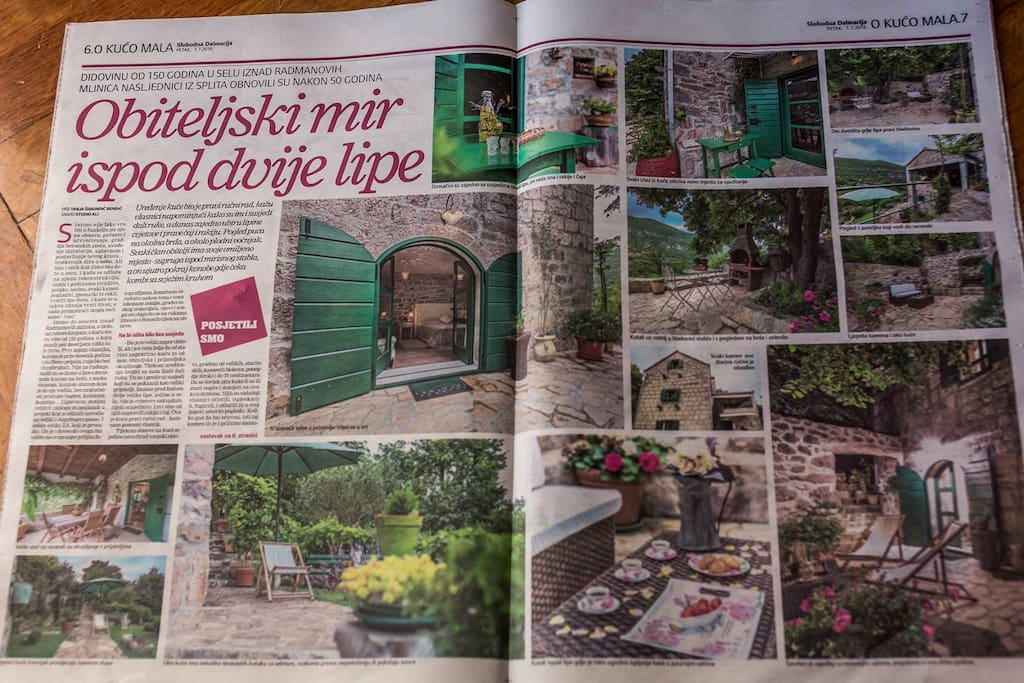 Our Villa in the newspaper