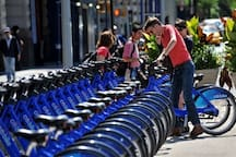 Citibikes located around the corner for those who want to explore on wheels!
